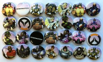 Overwatch - Buttons Assortment