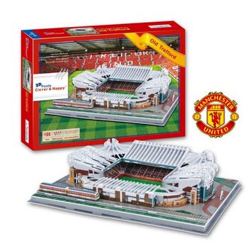 3D Puzzle - Manchester United Old Trafford Stadium, 186 Pieces