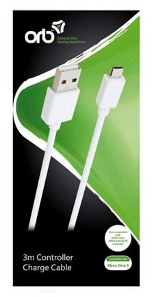 ORB Charge Cable - White, 3m (Xbox One)