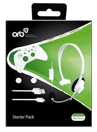 ORB Starter Pack incl. Wired Headset, Skin, Cable, 2 Grip Caps (Xbox One S)