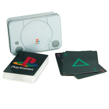 Playing Cards in Metal Case - PlayStation