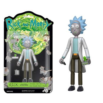 Rick and Morty - Rick Posable Action Figure incl. Right Arm for Snowball, 13cm
