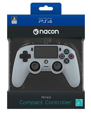 Nacon Compact Controller Wired - Grey (PS4)