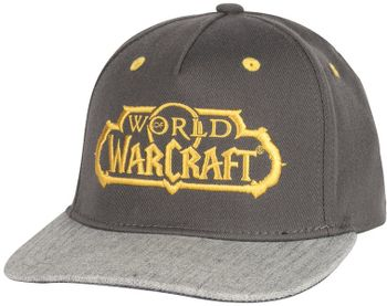 Stretch Fit Cap: World of Warcraft - Glory, Brown/Grey Size L