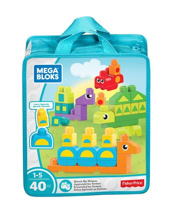 Mega Bloks: Learn - Match My Shapes, 40 Pieces
