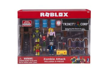 Roblox - Zombie Attack Playset incl 4 Mini Figures, 21 Pieces