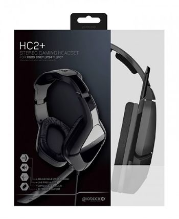 Gioteck HC2+ Stereo Gaming Headset - Black (PS4, Xbox One, PC)