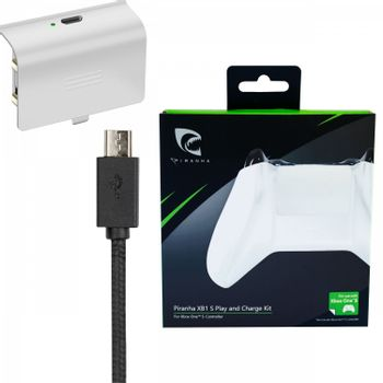 Piranha Play and Charge Battery Kit - White (Xbox One)
