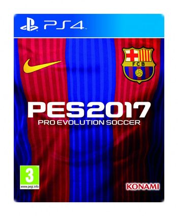 PS4 Pro Evolution Soccer 2017 Barcelona Edition Steelbook
