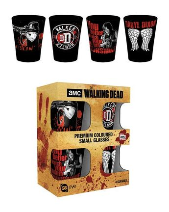 Walking Dead - Daryl Dixon Coloured Shot Glasses 4-Pack, 60ml