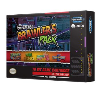 SNES Jaleco Brawler's Pack incl. Sticker and Button Pin Set, PAL