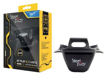 Steel Play Charge Kit incl. Power Bank and Cable (PS4)