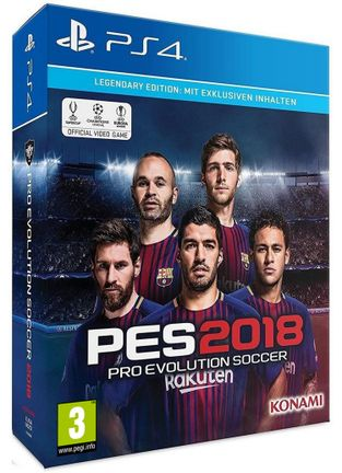 PS4 Pro Evolution Soccer 2018 Legendary Edition