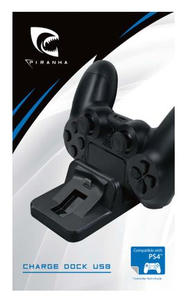 Piranha Dual Controller USB Charge Dock - Black (PS4)