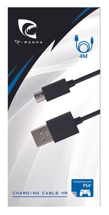 Piranha Charging Cable, 4m (PS4)