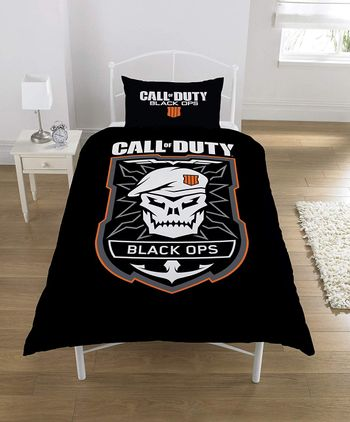 Single Duvet and Pillow Set: Call of Duty: Black Ops 4 - Emblem (52% Polyester, 48% Cotton)