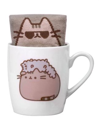 Gift Set: Pusheen - Stormy Sock in a Mug, 250ml/Size 35.5-40 EU