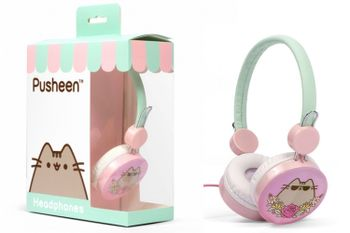 Pusheen - Cool Pink Headphones