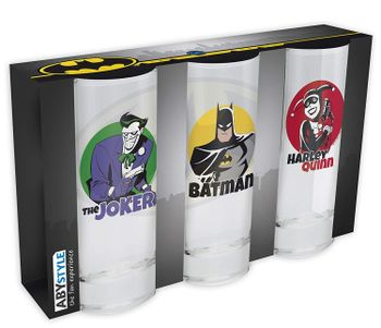 DC Comics - Batman, Harley Quinn and Joker Glasses 3-Pack