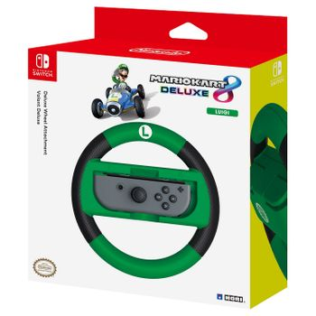 HORI Deluxe Wheel Attachment - Mario Kart 8 Luigi Edition (Switch)