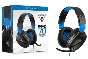Turtle Beach Recon 70 Gaming Headset Wired - Black/Blue (PS4)