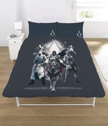 Double Duvet and Pillows Set: Assassin's Creed - Serve the Light (52% Polyester, 48% Cotton)