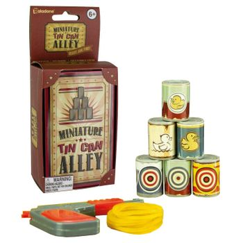 Miniature Tin Can Alley - Mini Target Shooting Desktop Game