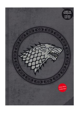Notebook Game of Thrones - Stark, Hardcover with Light Up A5