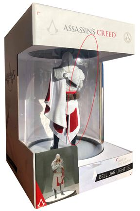 Assassin's Creed - Ezio Auditore Bell Jar Light [DAMAGED BELL]