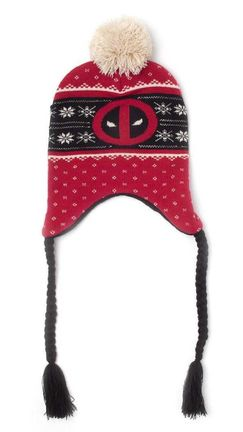 Laplander Beanie: Marvel - Deadpool, Red/Black