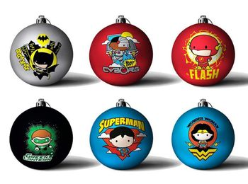 DC Comics - Justice League Christmas Bauble 6-Pack