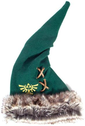 Beanie with Fur: Legend of Zelda - Triforce, Green