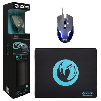 Nacon GB-300 Gaming Bundle - GM-105 Mouse and MM-150 Mousepad (PC)