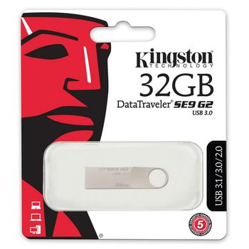 Kingston DataTraveler SE9 G2 - USB 3.1 Metal Flash Drive, 32 GB