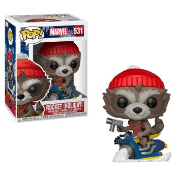 POP! Marvel: Holiday - Rocket on Sled Vinyl Bobble-Head
