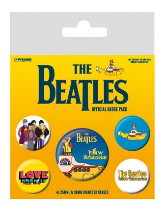 Badges 5-Pack: Beatles - Yellow Submarine, 1x38mm x 4x25mm