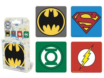 DC Comics - Super Heroes Emblems Coasters 4-Pack