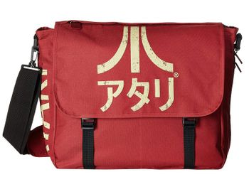 Atari - Logo Messenger Bag, Burgundy