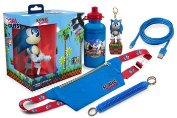 EXG Deluxe Big Box: Sonic The Hedgehog - Cable Guy, Cross Body Bag, Bottle, Key Cover, Keychain