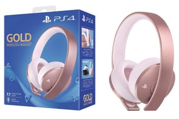 Gold Wireless Stereo Headset 7.1 V2 - Rose Gold Edition (PS4, PS3, PS Vita)
