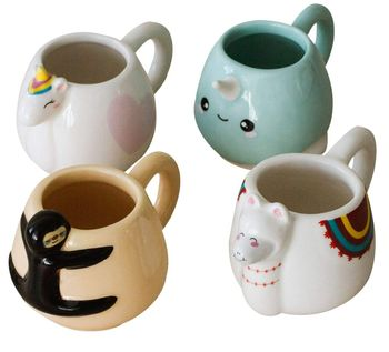 Animal Espresso Mug 4-Pack, 65ml