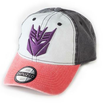 Baseball Cap: Transformers - Decepticons, Grey/Red