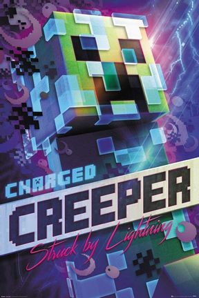 Poster Minecraft - Charged Creeper 61x91.5cm