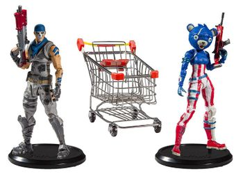 Fortnite: McFarlane Toys - Shopping Cart Pack incl. Fireworks Team Leader and Warpaint Figures