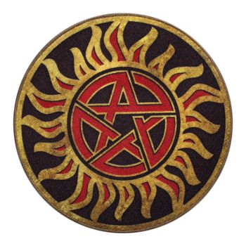 Door Mat Supernatural - Anti-Possession Symbol, Round 61cm