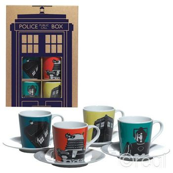 Doctor Who - Espresso Set incl. Mugs and Saucers