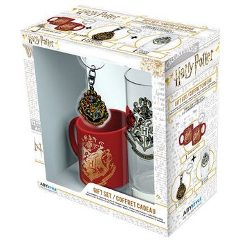 Gift Box: Harry Potter - Hogwarts Mini-Mug, Keychain and Glass