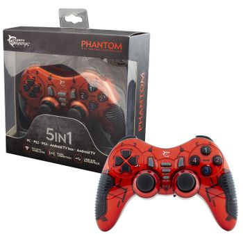 White Shark Phantom Gamepad Wireless - Red (PS2, PS3, PC)