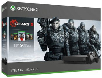 Xbox One X 1 TB - Gears 5 and Gears of War 1-4 Digital Download Bundle