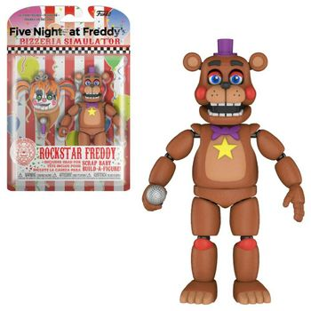 Five Nights at Freddy's Pizzeria Simulator - Rockstar Freddy Action Figure incl. Scrap Baby Head